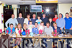 BIRTHDAY FUN: Martin O'Connor, Castleisland (seated centre) having a great time celebrating his 40th birthday with family and friends at the Kingdom Greyhound Stadium on Saturday.