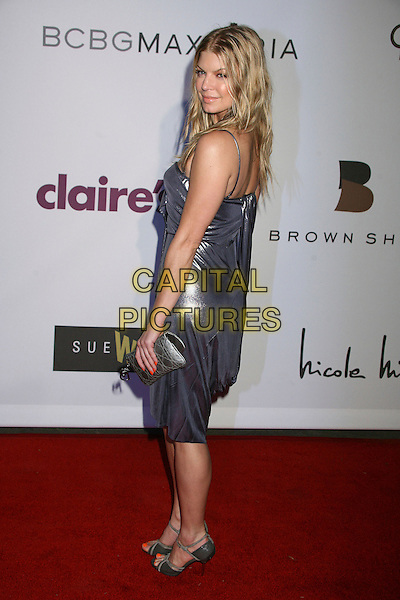 """FERGIE - STACY FERGUSON - BLACK EYED PEAS.1st Annual """"Class of Hope Prom 2007"""" Charity Benefit at the Sportman's Lodge, Studio City, California, USA. .April 21st, 2007.full length shimmer shiny purple grey gray dress stacey silver clutch purse .CAP/ADM/BP.©Byron Purvis/AdMedia/Capital Pictures"""