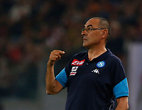 Maurizio Sarri  during the  italian serie a soccer match, AS Roma -  SSC Napoli       at  the Stadio Olimpico in Rome  Italy , 14 ottobre 2017