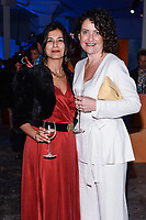 NEW YORK CITY - APRIL 20: Sonoo Mishra, Costume Designer and Davina Lamont, Hair, Makeup and Prosthetic Designer attend the National Geographic GENIUS: PICASSO Tribeca Film Festival after party at The Genius Studio, 100 Avenue of the Americas, in New York City on April 20, 2018 in New York City.  The Genius: Studio is an interactive installation designed to inspire people to create their own masterpieces. (Photo by Anthony Behar/National Geographic/PictureGroup)