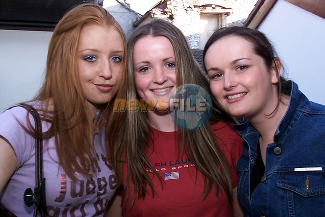 Joanne Neary, Ballsgrove, Eimear Callery, Monsterboice and Caoimhe Clarke, Copperhill pictured at Declan Fleming's benefit night..Picture: Arthur Carron/Newsfile