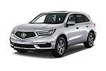 2019 Acura MDX Standard 5 Door SUV angular front stock photos of front three quarter view
