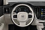 Car pictures of steering wheel view of a 2019 Volvo V60-Crosscountry - 5 Door Wagon Steering Wheel