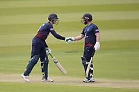 Steven Croft of Lancashire CCC congratulates Keaton Jennings of Lancashire CCC on his half century during Middlesex vs Lancashire, Royal London One-Day Cup Cricket at Lord's Cricket Ground on 10th May 2019