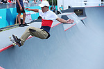 Kensuke Sasaoka (JPN), <br /> AUGUST 28, 2018 - Skateboarding : <br /> Men's Park Qualification<br /> at Jakabaring Sport Center Skatepark <br /> during the 2018 Jakarta Palembang Asian Games <br /> in Palembang, Indonesia. <br /> (Photo by Yohei Osada/AFLO SPORT)