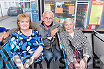 Mary Tobin, Tony Bowler and Anne Roche all from Tralee who regularly travel on the Tralee Peoples' Bus Service which has been operating for twenty-six years.
