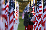 Visitors tour the Field of Valor in Orange County, Ca., on Sunday, Nov. 5, 2017. <br /> Photo by Cathleen Allison/Nevada Momentum