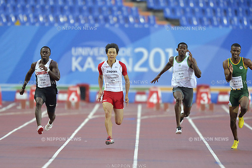 Ryota Yamagata (JPN), JULY 8, 2013 - Athletics : The 27th Summer Universiade 2013 Kazan Men's 100m Final at Central Stadium, Kazan, Russia. (Photo by AFLO SPORT)
