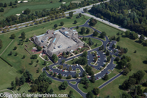 aerial photograph golf course club house, Lexington, Kentucky