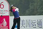 Liu Yu of China tees off at the 6th hole during Round 4 of the World Ladies Championship 2016 on 13 March 2016 at Mission Hills Olazabal Golf Course in Dongguan, China. Photo by Victor Fraile / Power Sport Images