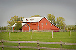 Mackinac County, MI. Red Barn.