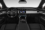 Stock photo of straight dashboard view of a 2018 Jaguar XF Sportbrake R Sport 5 Door Wagon