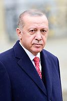 Recep Tayyip Erdogan - President de la Turquie<br /> Parigi 11-11-2018 <br /> Eliseo Pranzo Ufficiale Capi di Stato <br /> Commemorazione 100 anni dalla fine della Grande Guerra, Prima Guerra Mondiale <br /> Foto JB Autissier/Panoramic / Insidefoto