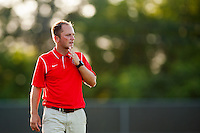 Washington Spirit head coach Mark Parsons. Sky Blue FC defeated the Washington Spirit 1-0 during a National Women's Soccer League (NWSL) match at Yurcak Field in Piscataway, NJ, on July 6, 2013.