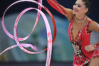 September 10, 2009; Mie, Japan;  Irina Risenson of Israel is closeup with ribbon at 2009 World Championships Mie.  Photo by Tom Theobald