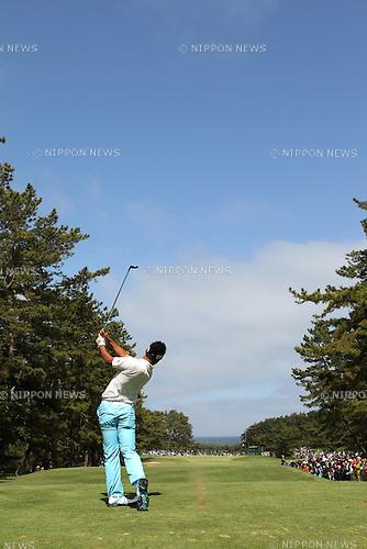 Hideki Matsuyama (JPN),<br /> JUNE 2, 2013 - Golf :<br /> Hideki Matsuyama of Japan hits a shot during the final round of the Diamond Cup Golf at Oarai Golf Club in Ibaraki, Japan. (Photo by Toshihiro Kitagawa/AFLO)