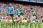 Killian Spillane, Kerry celebrates his side's only goal with Paul Geaney during the GAA Football All-Ireland Senior Championship Final match between Kerry and Dublin at Croke Park in Dublin on Sunday.