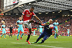West Ham's Darren Randolph saves a shot from Marcus Rashford of Manchester United during the Emirates FA Cup match at Old Trafford. Photo credit should read: Philip Oldham/Sportimage
