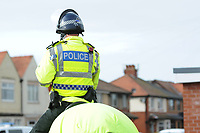 Police keep a watchful eye during the pre-match build-up<br /> <br /> Photographer Kevin Barnes/CameraSport<br /> <br /> The EFL Sky Bet League One - Fleetwood Town v Blackpool - Saturday 7th March 2020 - Highbury Stadium - Fleetwood<br /> <br /> World Copyright © 2020 CameraSport. All rights reserved. 43 Linden Ave. Countesthorpe. Leicester. England. LE8 5PG - Tel: +44 (0) 116 277 4147 - admin@camerasport.com - www.camerasport.com