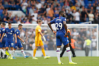 A frustrated Fikayo Tomori of Chelsea at the end of the match during the Premier League match between Chelsea and Sheff United at Stamford Bridge, London, England on 31 August 2019. Photo by Carlton Myrie / PRiME Media Images.