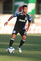 Anthony Ampaipitakwong (23) controls the ball. The San Jose Earthquakes tied the Philadelphia Union 0-0 at Buck Shaw Stadium in Santa Clara, California on July 9th, 2011.