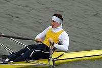 "Seville. SPAIN, 17.02.2007, SWE LM1X Joakim JOHANSSOW, clears the ""Puente de la Barqueta"" [bridge] during Saturdays heats, of the FISA Team Cup, held on the River Guadalquiver course. [Photo Peter Spurrier/Intersport Images]    [Mandatory Credit, Peter Spurier/ Intersport Images]. , Rowing Course: Rio Guadalquiver Rowing Course, Seville, SPAIN,"