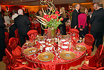 The fabulous tables at the Dominic Walsh Dance Theater's Firebird Soiree at the Four Seasons Hotel Saturday Oct. 17,2009. (Dave Rossman/For the Chronicle)