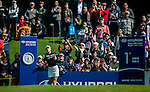In-Gee Chun of Korea plays a shot as a gallery of fans watch during the Hyundai China Ladies Open 2014 at World Cup Course in Mission Hills Shenzhen on December 14 2014, in Shenzhen, China. Photo by Xaume Olleros / Power Sport Images