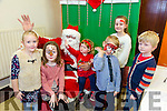 Santa came to Gaslscoil Mhic Easmainn annual Christmas Fayre - Aonach na Nollaig on  Sunday here with Emer Dillan, Ava Dewey, Ryan Buckley, Tadhg  Hubbard, Hannah Hubbard, Ava Healy