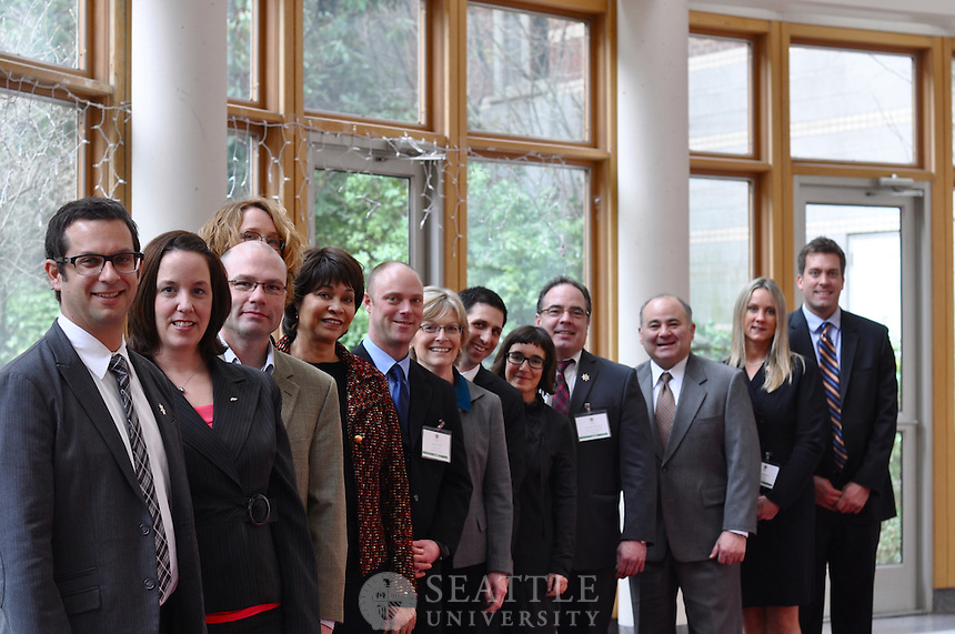 Seattle University Albers Business luncheon, cohort group shots, Casey Atrium, 3/2/12, Cohort #1 and #2