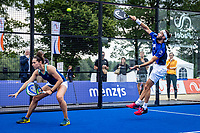 Rosmalen, Netherlands, 15 June, 2019, Tennis, Libema Open, NK Final Padel Mixed: Rosalie van der Hoek and Uriël Maarsen (NED)<br /> Photo: Henk Koster/tennisimages.com