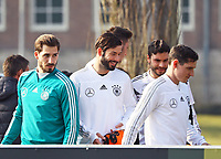 Marvin Plattenhardt (Deutschland Germany), Kevin Trapp (Deutschland Germany), Jonas Hector (Deutschland Germany), Sebastian Rudy (Deutschland Germany) - 25.03.2018: Training der Deutschen Nationalmannschaft, Olympiastadion Berlin