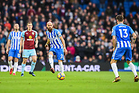 Bruno Saltor Captain of Brighton & Hove Albion (2)   In action  during the EPL - Premier League match between Brighton and Hove Albion and Burnley at the American Express Community Stadium, Brighton and Hove, England on 16 December 2017. Photo by Edward Thomas / PRiME Media Images.