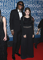 MOUNTAIN VIEW, CA - DECEMBER 3:  Wiz Kalifa and Nana Ou-Yang at the 6th Annual Breakthrough Prize at NASA Ames Research Center on December 3, 2017 in Mountain View, California. (Photo by Scott Kirkland/NatGeo/PictureGroup)