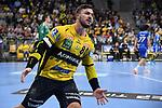 Rhein Neckar Loewe Jannik Kohlbacher (Nr.80)  beim Spiel in der Handball Bundesliga, Rhein Neckar Loewen - VfL Gummersbach.<br /> <br /> Foto &copy; PIX-Sportfotos *** Foto ist honorarpflichtig! *** Auf Anfrage in hoeherer Qualitaet/Aufloesung. Belegexemplar erbeten. Veroeffentlichung ausschliesslich fuer journalistisch-publizistische Zwecke. For editorial use only.