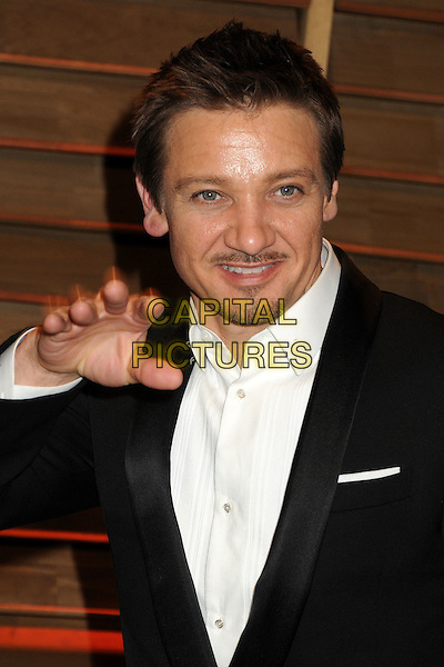02 March 2014 - West Hollywood, California - Jeremy Renner. 2014 Vanity Fair Oscar Party following the 86th Academy Awards held at Sunset Plaza.  <br /> CAP/ADM/BP<br /> &copy;Byron Purvis/AdMedia/Capital Pictures