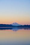 Mount Rainier, sunrise, Puget Sound, Silverdale, Washington State, Pacific Northwest, Seattle area, Deas Inlet,