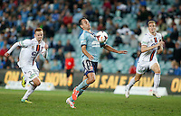 Sydney FC Richard Garcia controls the ball before scoring during his A-League match against Perth Glory in Sydney, April 13, 2014. Photo by Daniel Munoz/VIEWPRESS EDITORIAL USE ONLY