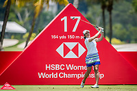 Marina Alex of USA in act during day 4 of HSBC Women's World Championship 2018 at Sentosa Golf Club, Sentosa,, Singapore, on 4  March 2018, Singapore.  Photo by : Ike Li / Prezz Images