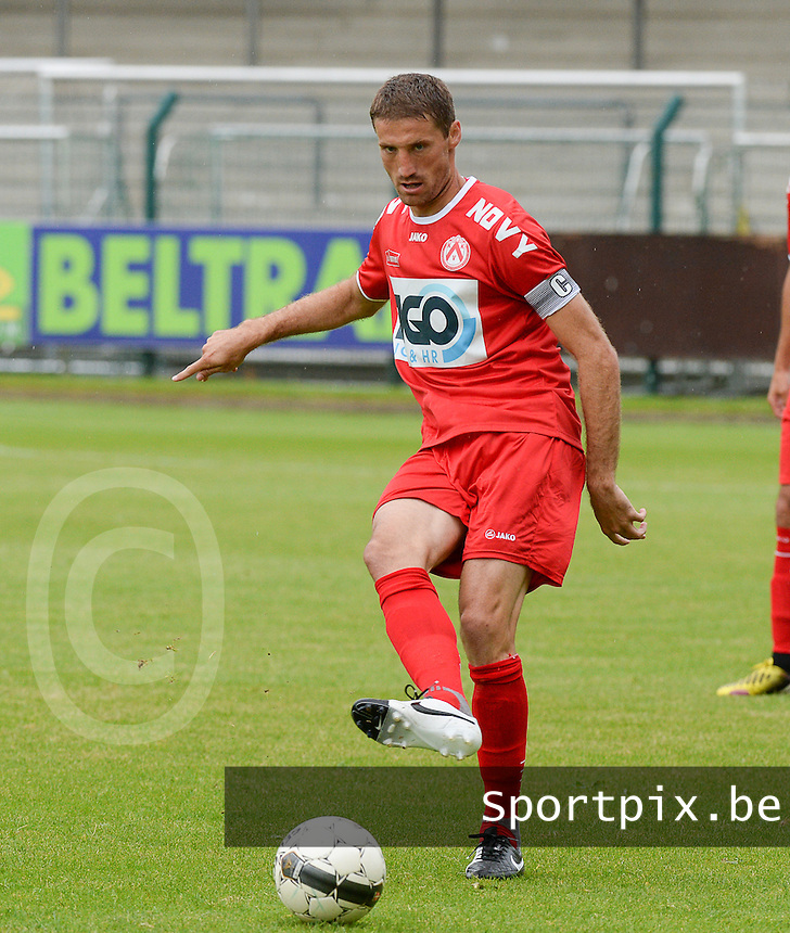 20140627 - HARELBEKE , BELGIUM:  Kortrijk's Nebojsa Pavlovic pictured during a friendly match between SW Harelbeke and Belgian first division soccer team KV Kortrijk, the third match for Kortrijk of the preparations for the 2014-2015 season, Friday 27 June 2014 in Bissegem. PHOTO DAVID CATRY