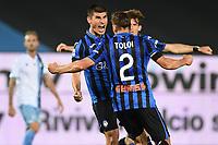 24th June 2020, Bergamo, Italy; Seria A football league, Atalanta versus Lazio; Goal celebration for Atalanta from scorer Ruslan Malinovskyi