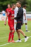20.07.2019, Heinz-Dettmer-Stadion, Lohne, GER, Interwetten Cup, VfL Osnabrueck vs 1. FC Koeln<br /><br />im Bild<br />Dominick Drexler (Koeln #24) spricht mit Achim Beierlorzer (Trainer / Cheftrainer 1. FC Koeln), <br /><br />Foto © nordphoto / Ewert