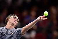 1st November 2019, AccorHotels Arena, Bercy, Paris, France; Rolex Paris Masters tennis tournament;  Alexander Zverev (Ger)