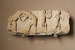 Block With Ceremonial Scenes - Wrestlers And Musicians, 6th Century BC,  Istanbul Archaeology Museum