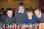 Q&A: Answers and questions were good for the pupils of Fenit NS on Thursday evening in the Meadowland Hotel, Tralee as they repercented their school in the Cumann na mBunscol Ciarrai? Tra?th na gCeist, 2010 County Final.l-r: Cian McGarry, Dara O'Connor, Eoghan O'Brien and Anto?in Stanton.................................. ....