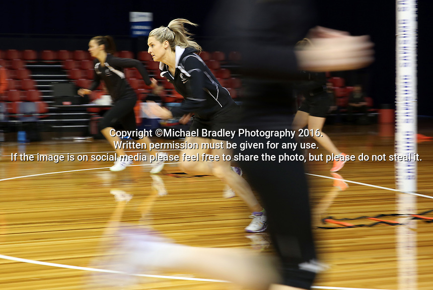 09.10.2016 Silver Ferns Jane Watson in action during training at the Silver Dome in Launceston in Australia. Mandatory Photo Credit ©Michael Bradley.