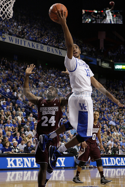 UK guard Ryan Harrow makes a basket during the second half of the men's basketball game against Mississippi State at Rupp Arena in Lexington, Ky. on Saturday, February 27, 2013. Photo by Genevieve Adams