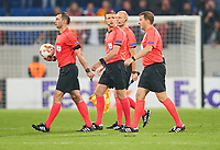 Referee Aleksei ESKOV,  Dmitri MOSYAKIN, Igor DEMESHKO, Mikhail VILKOV, Vladimir MOSKALEV<br /> TSG 1899 HOFFENHEIM - ISTANBUL Basaksehir  3-0<br /> Gruppe C, Football UEFA Europa League, Hoffenheim, 19.10.2017<br /> EL Saison 2017/2018<br /> <br />  *** Local Caption *** © pixathlon +++ tel. +49 - (040) - 22 63 02 60 - mail: info@pixathlon.de