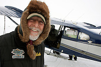 Pilot Bill Mayer brings a load of groceries and personnel to Shaktoolik on Monday.