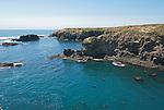 Pacific coast at Mendocino, California